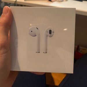 brand new airpods still in the box